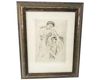 14. Looking into the Hand Mirror No. 3 Mary Cassatt