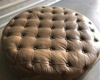 Tufted Taupe Ottoman
