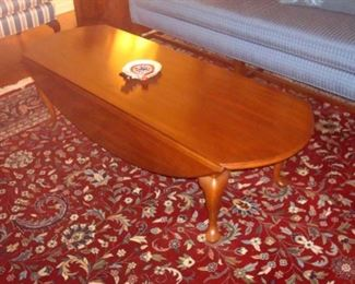 Henkel-Harris Queen Anne cherry coffee table.