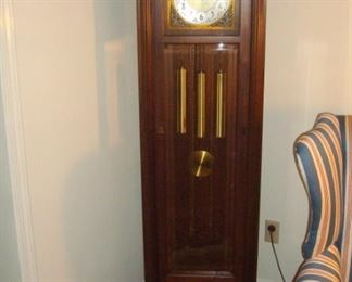 Cherry moon phase grandfather clock.