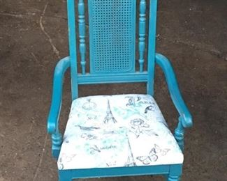 vintage high back chair