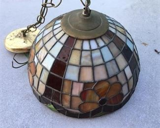 stained glass light chandelier