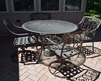 Patio Table, Chairs