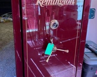 Remington Gun Safe - Model Premier 25; Burgundy and Gold