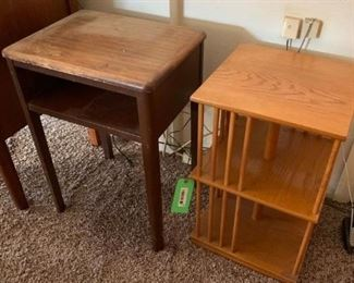 Two Small Wood Side Tables
