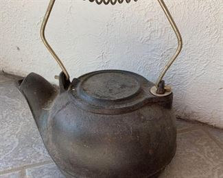 Vintage Cast Iron Water Kettle