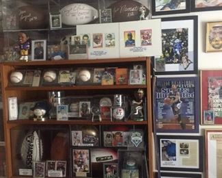 wall o' sports collectibles