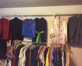lots of vintage clothes -and modern with price tags