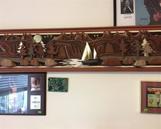 Local NW artist wall sculpture Dick Fichter-(did the mural at Mill Creek City Hall)