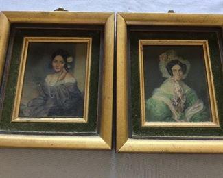 """Portraits, 6 1/2"""" x 7 3/4""""."""