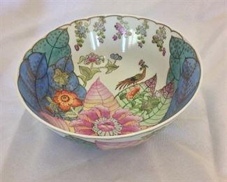 "Painted Chinese Bowl, 4 1/2"" H, 10"" diameter."