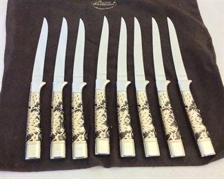 """Carvel Hall Steak Knives by Briddell, 8 1/2"""" L.."""