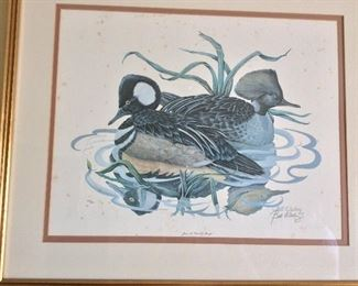 Bill Wesling Signed and Numbered Waterfowl Prints from the early 1980's.