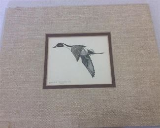 "Duck Art, William Rodgers, Jr. 1977, 10"" x 8""."