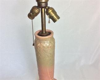 "Rockwood Pottery Lamp, Mark: XXI 1371, 23"" H."