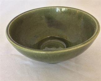 "Haeger USA Bowl, 3"" H, 8"" diameter."