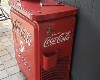 1950's 5 Cent Coca Cola Spin Top Cooler