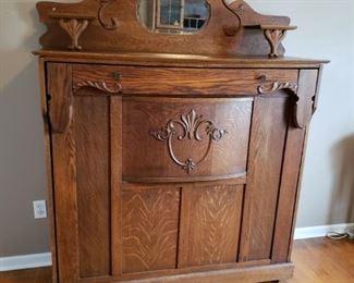 Beautiful Late 1800s Antique Oak Murphy Bed