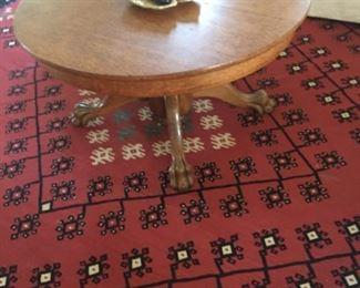 Oak clawfoot coffee table