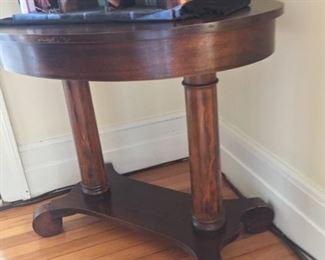 Empire mahogany oval side table