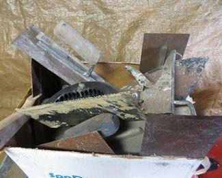 Drywall finishing tools.