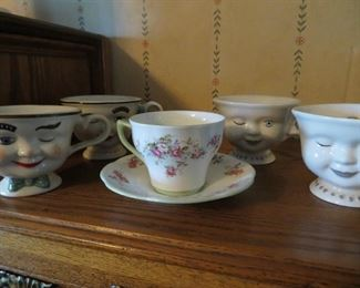 Bailey's Irish Cream cups, antique cup and saucer