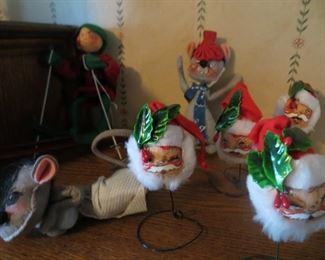 Vintage Annalee Mobilitee Dolls - Christmas and New Years