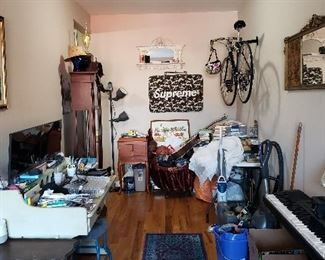 Note: Piano and bicycle are not for sale.