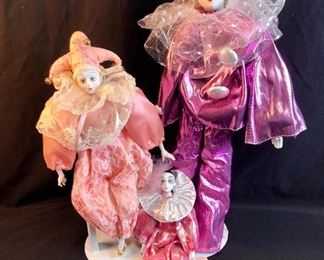 Silvestri/ Leika Harlequin Dolls