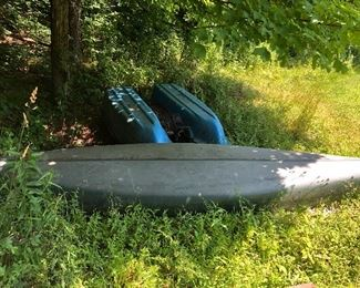 Old Town Canoe-has small caned piece on the seats-the cane will need repair but the seats are sturdy.  Asking 200.00 OBO