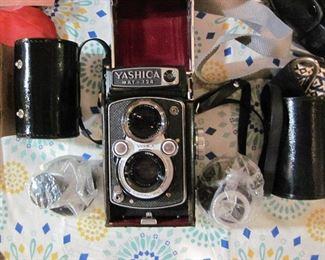 Yasahica Mat 124 Camera with extra lenses & case