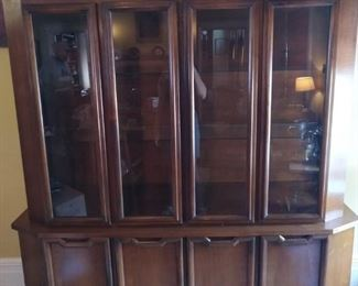 Drexel china cabinet can be detached without leaving marks on top.