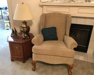 Broyhill wing back chair