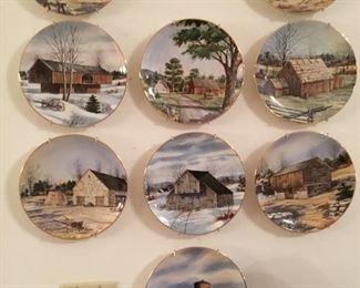 "Complete set of 12 ""The Vanishing American Barn"""