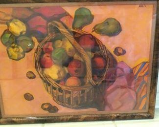 """Watercolor: Benko Katayia - """"Gyomolesok"""", Hungary    30 1/2"""" x 23"""""""