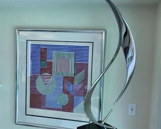 Lou Pearson Sculpture - Victor Vasarely - Signed #75/275