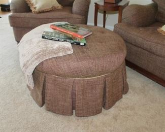 Walter E. Smithe fabric upholstered ottoman