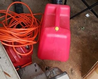 Gas Can & Cords