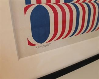 Official Barack Obama poster by Lance Wyman (Numbered 1571/5000)