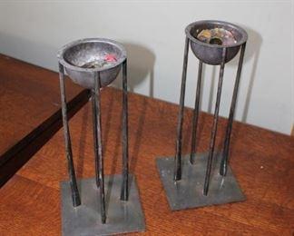 Modernist Silverplate Candlesticks, from Luminaire Chicago