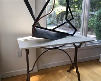 Several Large Abstract Metal Sculpture by