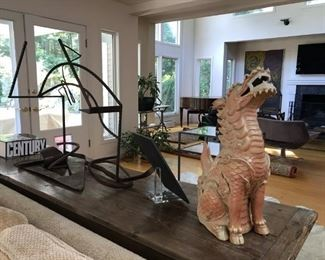 Sculpture on Great Console Table