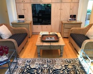 Wicker Chests and Sofas