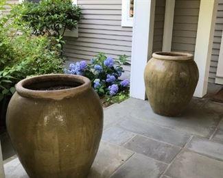 THREE Large Ceramic Pots