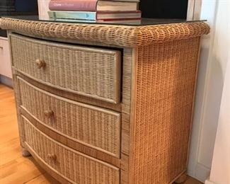 Small Wicker Chests with Mirrored TOPS 4 of them