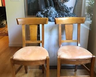 Set of Ten French Chair 8 Side as Pictured here and 2 Arm not pictured
