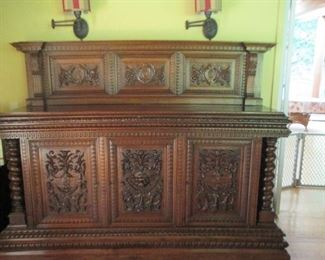 Heavily Carved Sideboard
