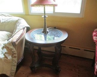 End Table with Glass