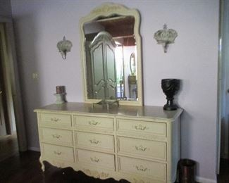 Stanley Bureau with Mirror, French Country