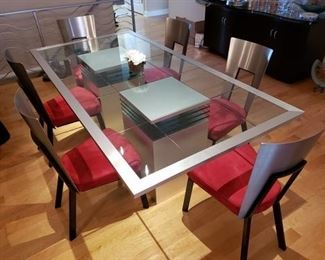 Modern Style Dining Set (six chairs)